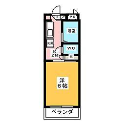 ナビアII[3階]の間取り
