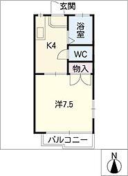 ミニオンシャトルB棟[1階]の間取り