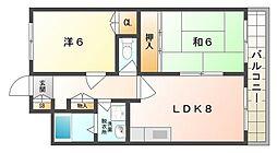 富士栄町マンション[3階]の間取り