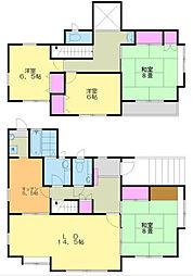 [一戸建] 神奈川県厚木市飯山 の賃貸【神奈川県 / 厚木市】の間取り