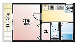 バンベールマキノ[4階]の間取り