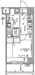 東京メトロ日比谷線 三ノ輪駅 徒歩7分の賃貸マンション 10階1Kの間取り