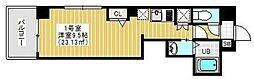 東京メトロ日比谷線 三ノ輪駅 徒歩3分の賃貸マンション 4階1Kの間取り