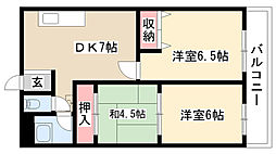 愛知県名古屋市南区弥生町の賃貸マンションの間取り