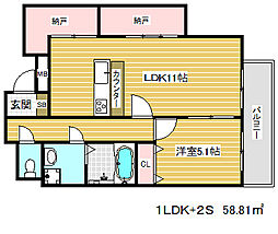 マリス神戸[5階]の間取り