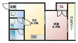 藤澤ハイツ[2A号室]の間取り