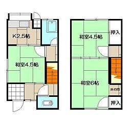 大場アパート[3号室]の間取り