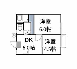 Cache-Cache House[2階]の間取り