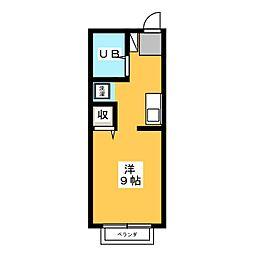 ユニメント[1階]の間取り