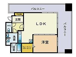 KDXレジデンス大濠ハーバービュータワー[26階]の間取り
