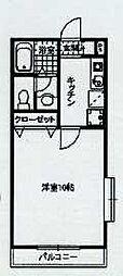 JR五日市線 東秋留駅 徒歩15分の賃貸マンション 4階1Kの間取り