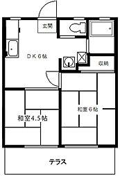 新鴨ハイツ[1階]の外観