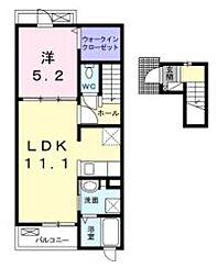シャンボア 2[2階]の間取り