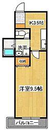 徳島県徳島市秋田町2丁目の賃貸マンションの間取り