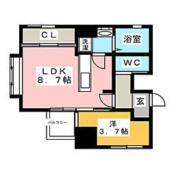 BLANC TOUR HAKATA[6階]の間取り
