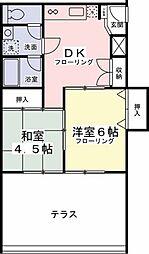 百草園マンション[306号室]の間取り