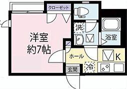 東京都台東区谷中1丁目の賃貸アパートの間取り