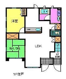 コウジィコートII番館[1階]の間取り