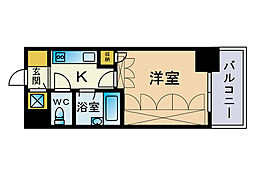 フォルム博多[5階]の間取り