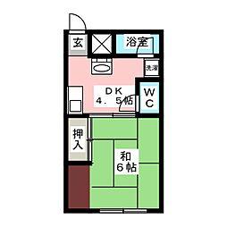 コーポ大園I[2階]の間取り