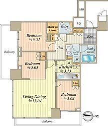 間取り(こちらはお部屋の間取り図になります。大変使いやすい間取り、陽当り&通風良好です。)