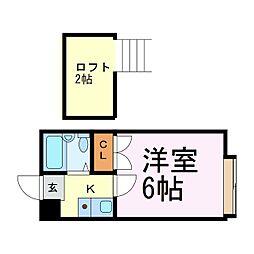 愛知県名古屋市南区戸部町3丁目の賃貸マンションの間取り