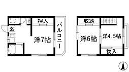 [テラスハウス] 兵庫県西宮市門戸岡田町 の賃貸【/】の間取り