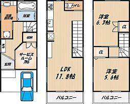 松川町新築戸建 1階2SLDKの間取り