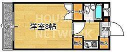 サンフェスタ東福寺[A301号室号室]の間取り