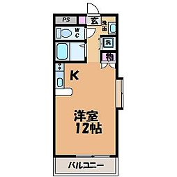 愛媛県松山市畑寺3丁目の賃貸マンションの間取り