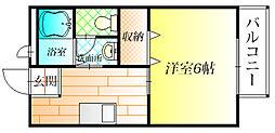 ラルゴ羽曳野[2階]の間取り