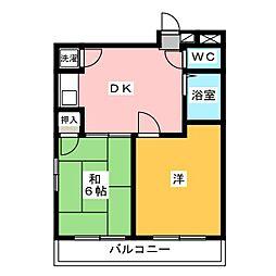 ダイナコートパピヨン吉塚[2階]の間取り