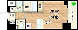 アスヴェル心斎橋東ステーションフロント[7階]の間取り