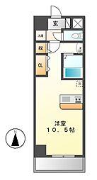 エルミタージュ名駅西[2階]の間取り