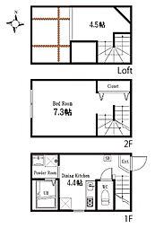 ハーミットクラブハウス久我山(仮称)[2階]の間取り