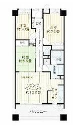 クオス横濱山手[4階]の間取り