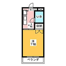グリーンハイツ浅野[3階]の間取り