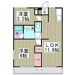 メゾンA[2階]の間取り