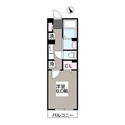 東京メトロ東西線 葛西駅 徒歩11分の賃貸アパート 2階1Kの間取り
