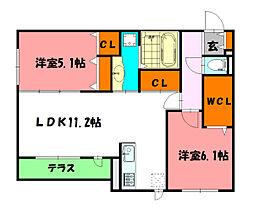 仮称)鳥羽D-Room[1階]の間取り