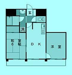 プランシェ瀧村[2階]の間取り