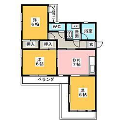 ドルフ本地[2階]の間取り