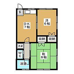メゾンフリーダム[1階]の間取り