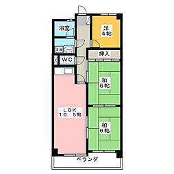 第3ハイツ聖[3階]の間取り
