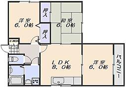 ベルセゾン大原 A棟[1階]の間取り