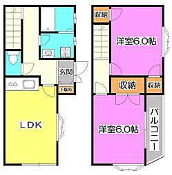 [テラスハウス] 東京都練馬区石神井町1丁目 の賃貸【/】の間取り