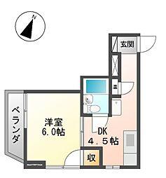 サウスタウン上飯田[4階]の間取り