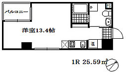 エス・キュート魚崎 6階1Kの間取り