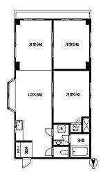 JR総武線 四ツ谷駅 徒歩5分の賃貸マンション 2階3LDKの間取り