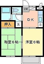 ディアコート六浦[202号室]の間取り